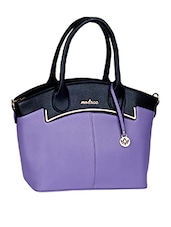 Colour Block Leatherette Handbag - Mod'acc