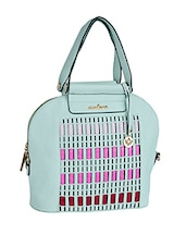 Multi Colour Blocks Leatherette Handbag - Mod'acc - 1106725