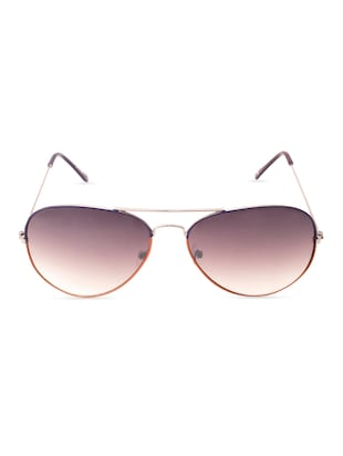 Half Brown Half Black Frame Aviator Sunglass