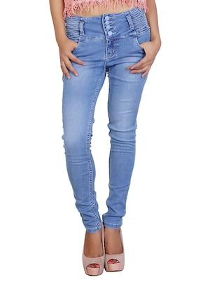 sky blue denim lycra jeans
