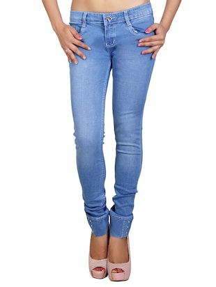 denim blue lycra jeans