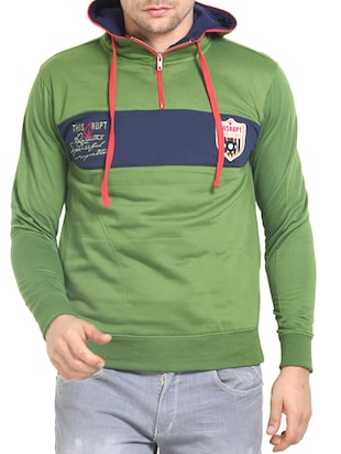 green cotton sweatshirt