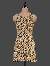Animal Printed Sleeveless Bodycon Dress - Trendybella