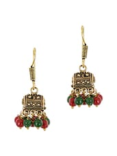 Multi Colored Brass Jhumka Earring - By