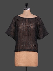 Boat Neck Black Lace Dress - URBAN RELIGION