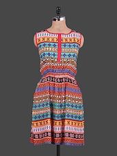 Ethnic Print Sleeveless Dress - URBAN RELIGION
