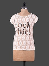 Lace Round Neck Top - URBAN RELIGION
