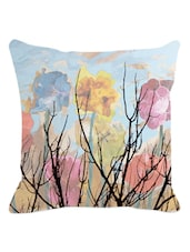 Multicolored Cloudy Floral Cushion Cover - Leaf Designs