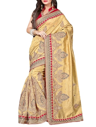 cream kanchi silk saree