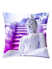 Meditating Buddha Cushion Cover - Leaf Designs