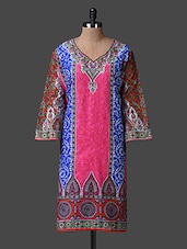 Printed Quarter Sleeves Cotton Kurta - JMD