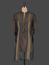 Mandarin Collar Sheer Kurta - Just Wow