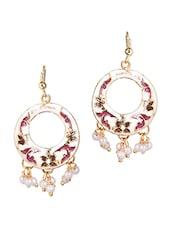 Off-white Metal Alloy & Pearl Dangler Earrings - Patootie