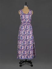 Paisley Printed Sleeveless Maxi Dress - EWA Women