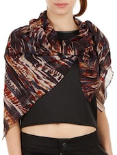 Graphic Abstract Print Scarf - Fuziv