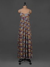 Printed Sleeveless Maxi Dress - NUN