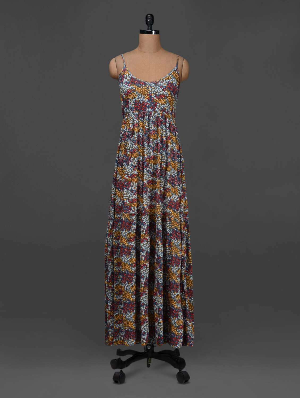 Printed Sleeveless Maxi Dress - NUN