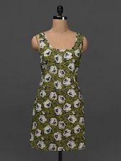 Floral Printed Sleeveless Dress - NUN