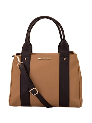 beige satin handbag