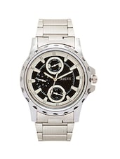 silver stainless steel chronograph watch -  online shopping for Analog Watches