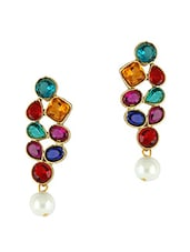 Multicoloured Stone Dangler Earrings -  online shopping for Sets