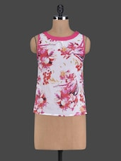 Floral Printed Sleeveless Top - Golden Couture