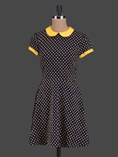 Polka Dot Peter Pan Collar A-line Dress - Golden Couture