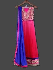 Embroidered Pink Georgette Anarkali Suit - Admyrin