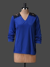 Blue Lacy Full Sleeves Top - Liebemode