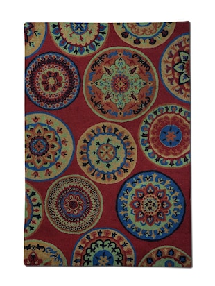 Rugs2Clear Hand Made Red Wool California Rug(230cm x 160cm),1 Piece