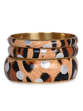 Tiger Skin Printed Bangle Set - THE PARI
