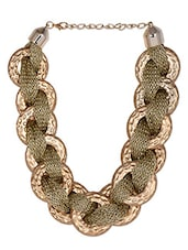 Connected Golden Rings Neckpiece - THE PARI