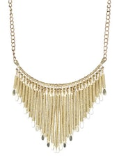 Solid Twist Gold Neck Piece - By