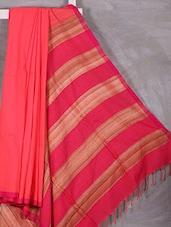 Hand Woven Bengal Cotton Gheecha Saree - Attire Zone