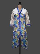 Sheer Sleeves Floral Print Kurta - Shakumbhari