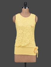 Yellow Cotton Lace Sleeveless Top - 27Ashwood