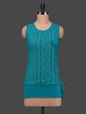 Sea Green Cotton Lace Sleeveless Top - 27Ashwood