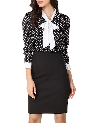 black,white polyester shirt