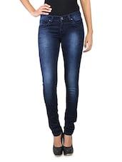 Washed Indigo Color Women's Jeans - LESLEY