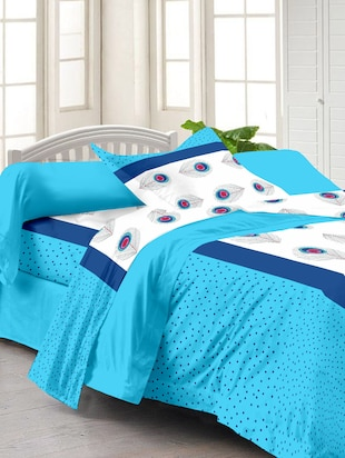 Story @ Home White 100% Cotton Fantasy 1 Single Bedsheet with 1 Pillow Cover