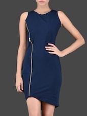Side Zipper Sleeveless Round Neck Cotton Dress - Miss Chase