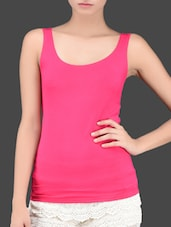 Viscose Neon Pink Tank Top - Miss Chase