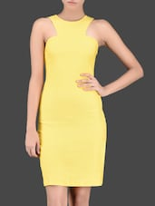 Racer Back Inspired Yellow Bodycon Dress - Miss Chase
