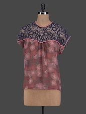 Round Neck Printed Top - I AM FOR YOU