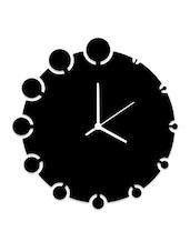 Circles With Circles Black Wall Clock - Osaree