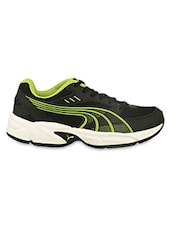 Green Detailed Black Sports Shoes - PUMA