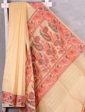 Bordered Woven Cotton Blend Kota Saree - Komal Sarees