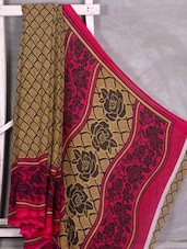 Rose Printed Pallu With Border Saree - Komal Sarees