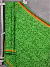 Green Floral Print Chiffon Saree - Komal Sarees