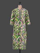 Abstract Multicolor Pixel Printed Kurta - SHREE